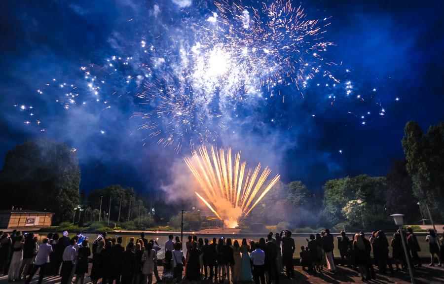 Feuerwerk Abiball Palais