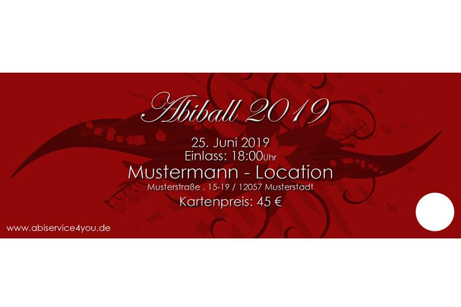 Eintrittskarte Abiball